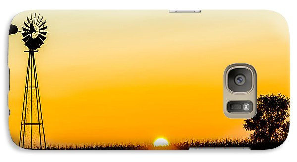 Galaxy Case featuring the photograph Still Country Sunset Silhouette by Chris Bordeleau