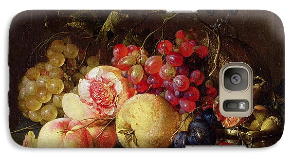 Still Life Galaxy S7 Case by Cornelis de Heem