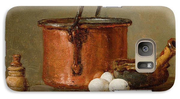 Still Life Galaxy S7 Case by Jean-Baptiste Simeon Chardin