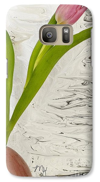 Galaxy Case featuring the photograph Still Life Tulip by Marsha Heiken