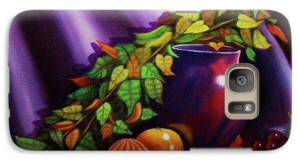Galaxy Case featuring the painting Still Life W/purple Vase by Gene Gregory