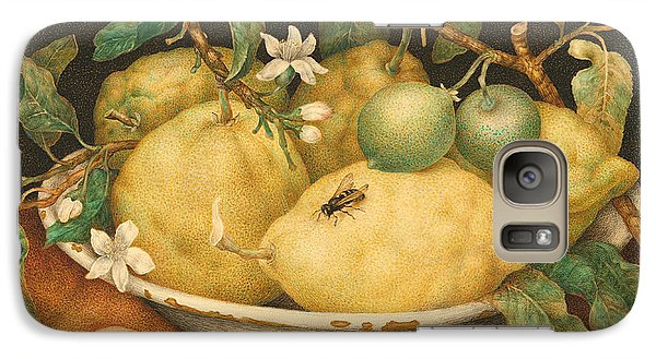 Still Life With A Bowl Of Citrons Galaxy Case by Giovanna Garzoni