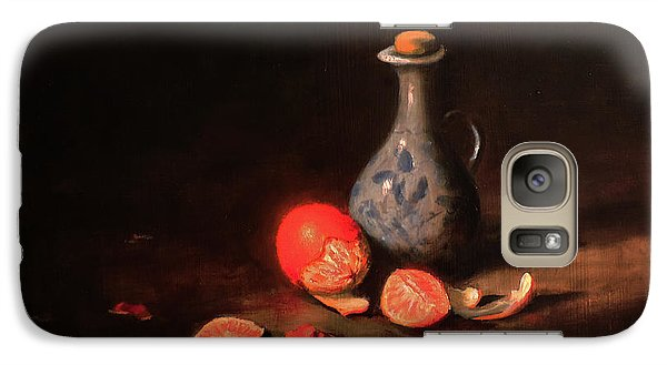 Galaxy Case featuring the painting Still Life With A Little Dutch Jug by Barry Williamson