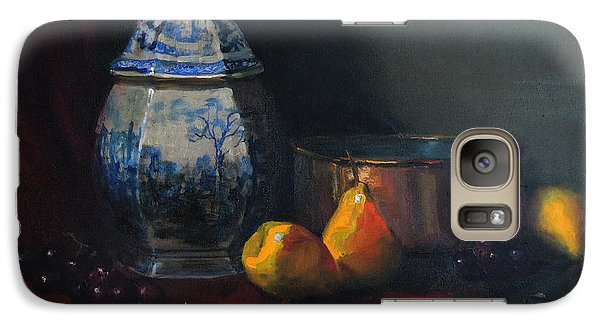 Galaxy Case featuring the painting Still Life With Antique Dutch Vase by Barry Williamson