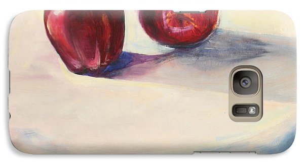 Galaxy Case featuring the painting Still Life With Apples by Daun Soden-Greene