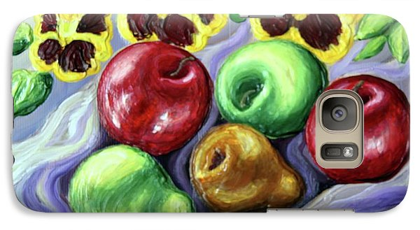 Galaxy Case featuring the painting Still Life With Apples by Inese Poga