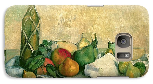 Mango Galaxy S7 Case - Still Life With Bottle Of Liqueur by Paul Cezanne