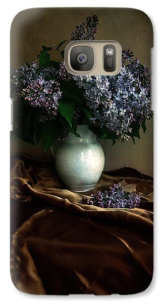 Galaxy Case featuring the photograph Still Life With Bouqet Of Fresh Lilac by Jaroslaw Blaminsky