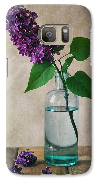Galaxy Case featuring the photograph Still Life With Fresh Lilac by Jaroslaw Blaminsky