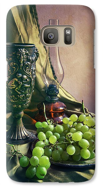 Galaxy Case featuring the photograph Still Life With Green Grapes by Jaroslaw Blaminsky