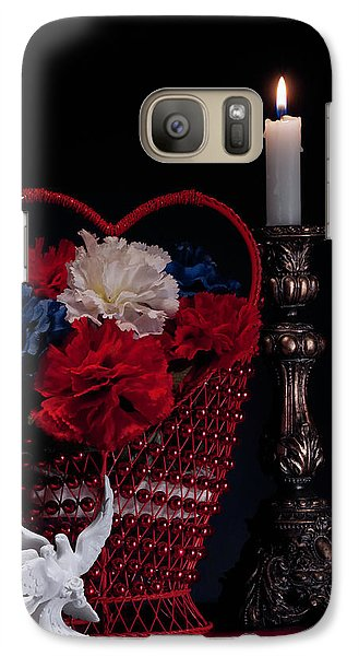 Still Life With Lovebirds Galaxy Case by Tom Mc Nemar