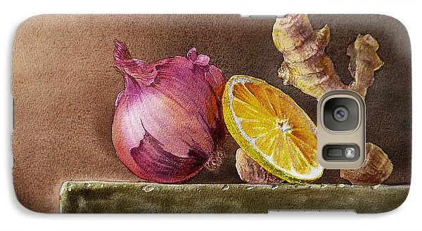 Still Life With Onion Lemon And Ginger Galaxy S7 Case by Irina Sztukowski