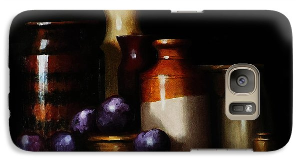 Galaxy Case featuring the painting Still Life With Plums by Barry Williamson