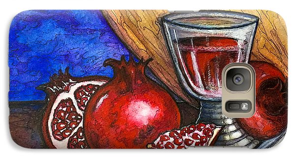 Galaxy Case featuring the painting Still Life With Pomegranate And Goblet 1 by Rae Chichilnitsky
