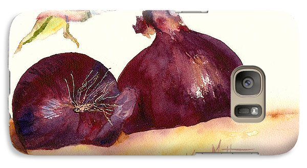 Galaxy Case featuring the painting Still Life With Red Onions by Karen Mattson