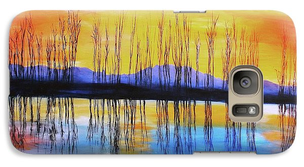 Galaxy Case featuring the painting Still Waters From The Water Series  by Donna Dixon