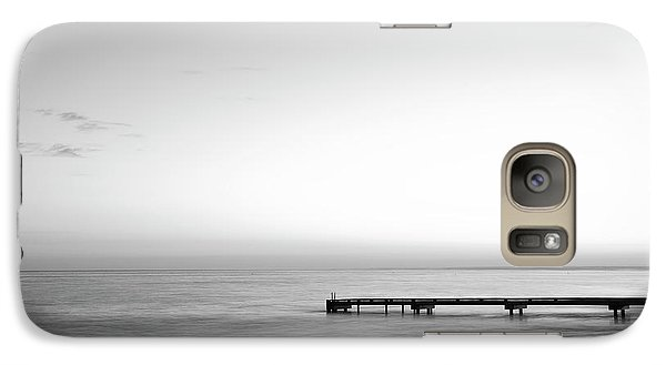 Galaxy Case featuring the photograph Stillness In Black And White by Ivy Ho