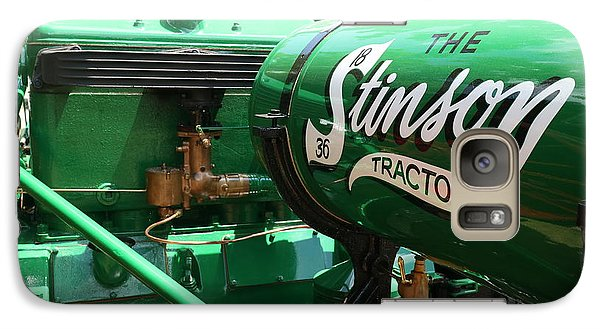 Galaxy Case featuring the photograph Stinson Steam Tractor by Scott Kingery
