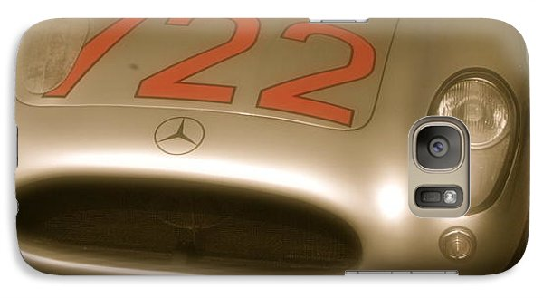 Galaxy Case featuring the photograph Stirling Moss 1955 Mille Miglia Winning 722 Mercedes by John Colley
