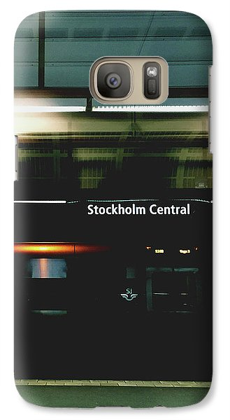 Train Galaxy S7 Case - Stockholm Central- Photograph By Linda Woods by Linda Woods