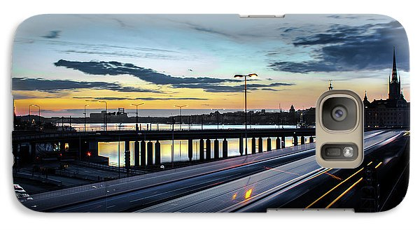 Galaxy Case featuring the photograph Stockholm Night - Slussen by Nicklas Gustafsson