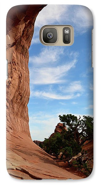 Galaxy Case featuring the photograph Stoic Stone Arch In Utah by Bruce Gourley