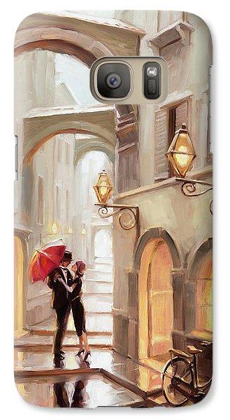 Realistic Galaxy S7 Case - Stolen Kiss by Steve Henderson