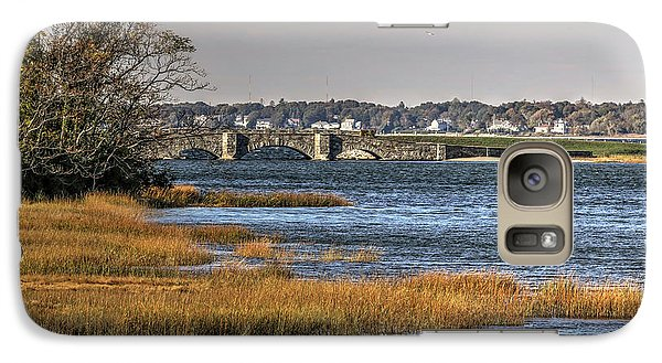 Galaxy Case featuring the photograph Stone Bridge At Mills Gut Colt State Park by Tom Prendergast