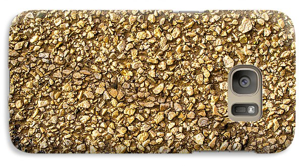 Galaxy Case featuring the photograph Stone Chip On A Wall by John Williams