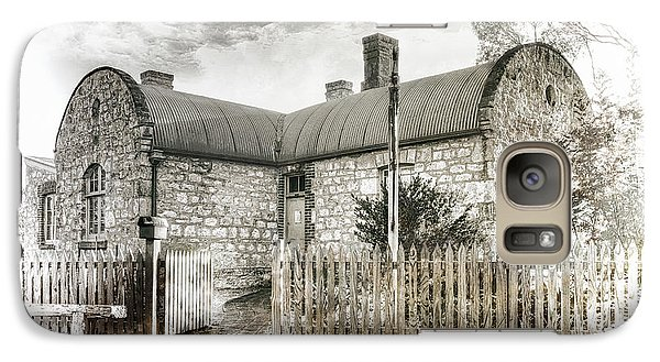 Galaxy Case featuring the photograph Stone Cottage by Wayne Sherriff