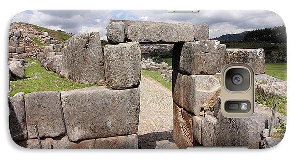Galaxy Case featuring the photograph Stone Doorway At Sacsaywaman by Aidan Moran