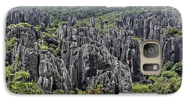 Galaxy Case featuring the photograph Stone Forest by Wade Aiken