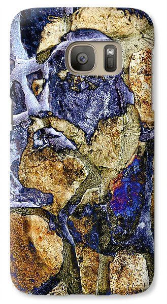 Galaxy Case featuring the photograph Stone Man by Pennie  McCracken