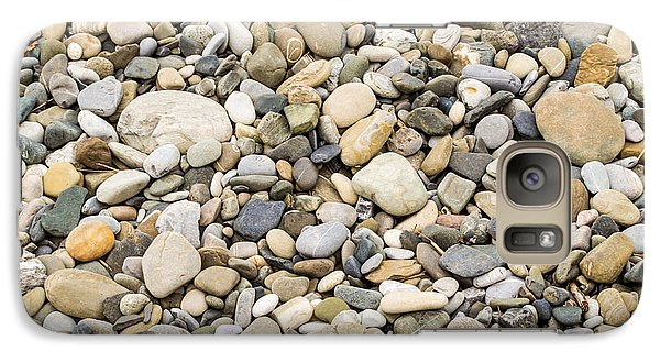 Galaxy Case featuring the photograph Stone Pebbles Patterns by John Williams