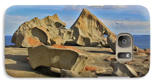 Galaxy Case featuring the photograph Stone Sculpture by Stephen Mitchell