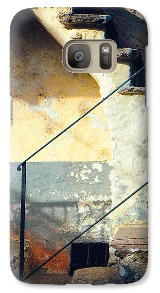 Galaxy Case featuring the photograph Stone Steps Outside An Old House by Silvia Ganora