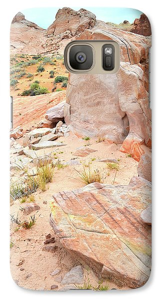 Galaxy Case featuring the photograph Stone Tablet In Valley Of Fire by Ray Mathis