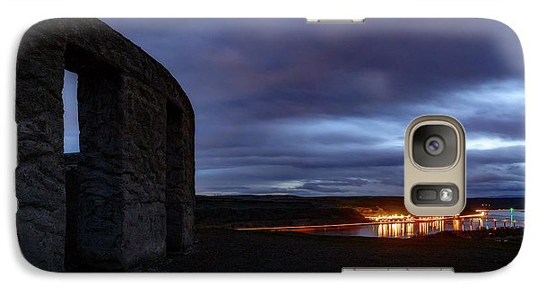 Galaxy Case featuring the photograph Stonehenge And The Columbia by Cat Connor