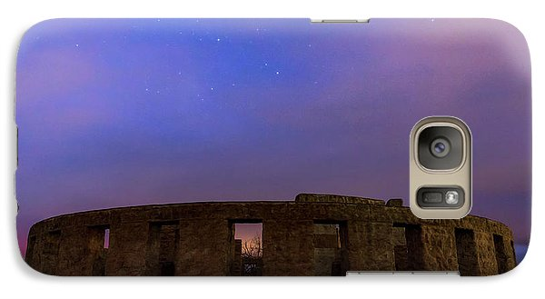 Galaxy Case featuring the photograph Stonehenge Sunrise by Cat Connor