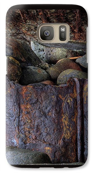 Galaxy Case featuring the photograph Rusted Stones 1 by Steve Siri