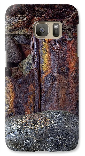 Galaxy Case featuring the photograph Rusted Stones 2 by Steve Siri