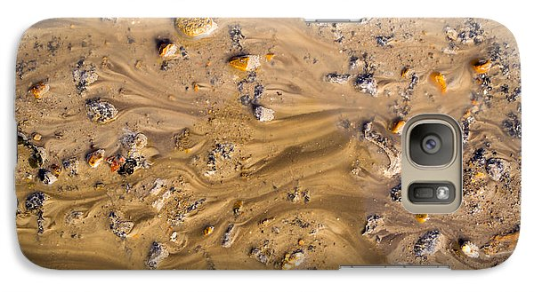 Galaxy Case featuring the photograph Stones In A Mud Water Wash by John Williams
