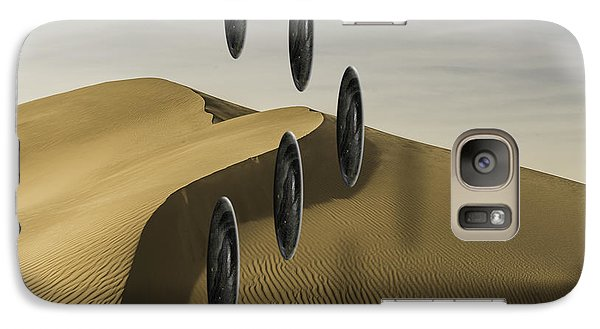 Galaxy Case featuring the photograph Stones Over Dunes One by Kevin Blackburn