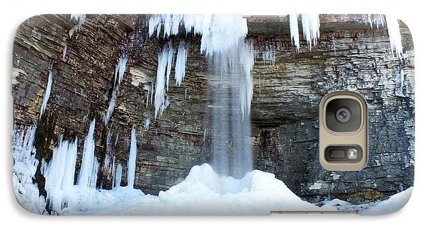 Galaxy Case featuring the photograph Stony Kill Falls In February #1 by Jeff Severson