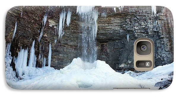 Galaxy Case featuring the photograph Stony Kill Falls In February #2 by Jeff Severson