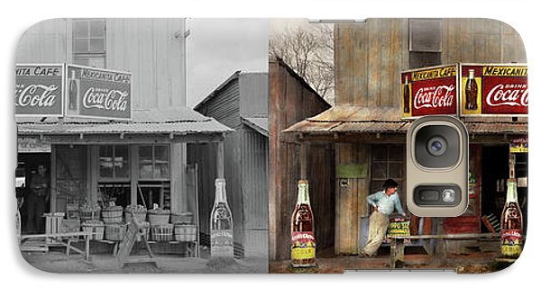 Galaxy Case featuring the photograph Store - Grocery - Mexicanita Cafe 1939 - Side By Side by Mike Savad