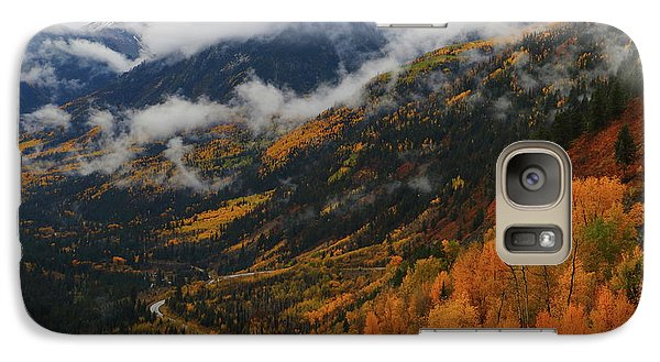 Galaxy Case featuring the photograph Storm Clouds Over Mcclure Pass During Autumn by Jetson Nguyen