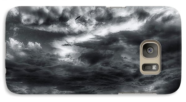 Galaxy Case featuring the photograph Storm Clouds Ventura Ca Pier by John A Rodriguez