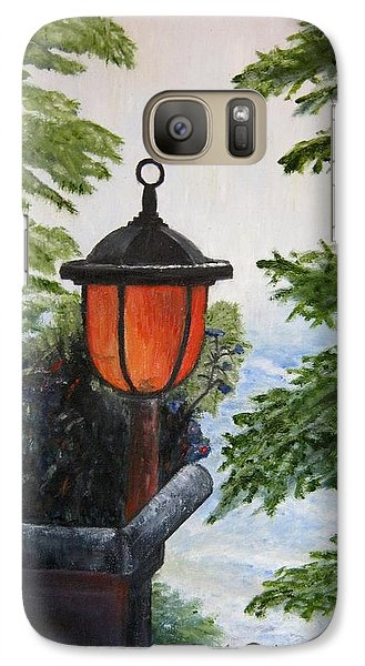 Galaxy Case featuring the painting Storm On Lake Of The Woods by Marilyn  McNish