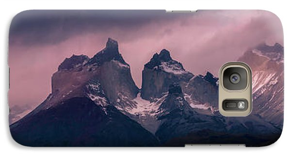 Galaxy Case featuring the photograph Storm On The Peaks by Andrew Matwijec